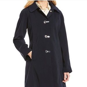 London Fog Classic Black Long Trench Coat - WARM